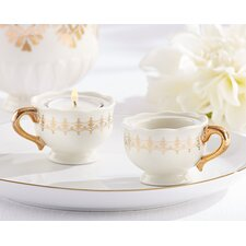 Classic Teacups Tealight Holder (Set of 12)