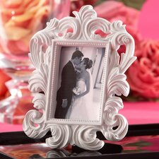White Baroque Elegant Place Card Holder / Photo Frame (Set of 15)