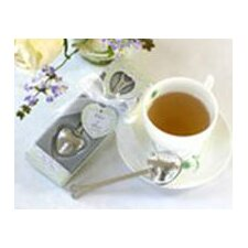 ''Tea Time'' Heart Tea Infuser Favor in Teatime Gift Box (Set of 10)