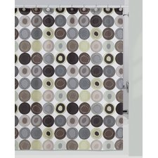 Dot Swirl Cotton Shower Curtain