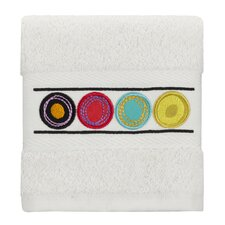 Dot Swirl Embroidered Wash Cloth