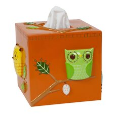 Give a Hoot Ceramic Tissue Box Cover