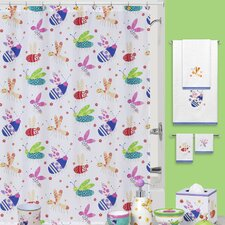 Cute as a Bug Cotton Shower Curtain