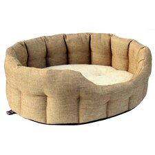 Machine Washable Premium Oval Basket Weave Softee Dog Bed