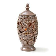 """CandleTEK 17"""" Ceramic Floral Vase"""