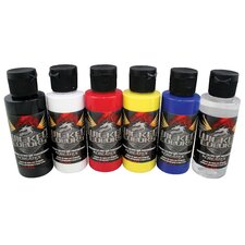 Wicked Colors Primary Airbrush Paint (Set of 6)