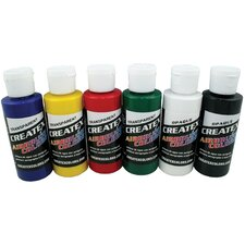 2 oz Med Gloss Coat Airbrush Paint (Set of 3)