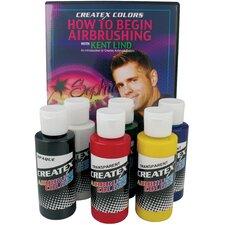 2 oz Prim Airbrush Paint Set with Dvd