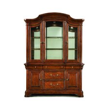 Evolution China Cabinet in Distressed Rich Auburn