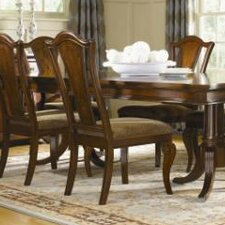 American Traditions Splat Back Side Chair in Distressed Rich Cordovan Mahogany (Set of 2)