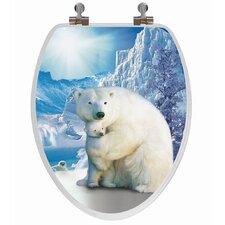 3D Series Polar Bear Elongated Toilet Seat