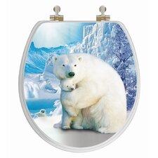3D Series Polar Bear Round Toilet Seat