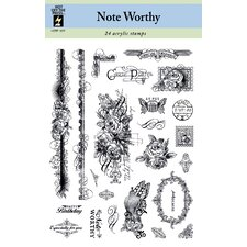Note Worthy Clear Stamp Set