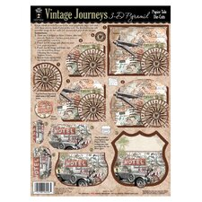 Vintage Journeys 3-D Paper Tole Die-Cuts (Set of 3)