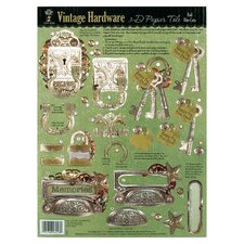 Foil Vintage Hardware 3-D Paper Tole Die-Cuts (Set of 2)