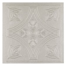 "Metallo 4"" x 4"" Vinyl Tile in Silver (Set of 27)"