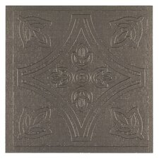 "Metallo 4"" x 4"" Vinyl Tile in Pewter (Set of 27)"