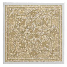 "Nexus Motif 4"" x 4"" Vinyl Tile in Sandstone (Set of 27)"