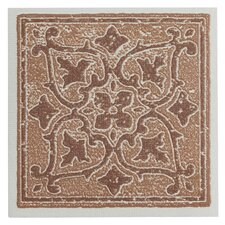 "Nexus Motif 4"" x 4"" Vinyl Tile in Terra (Set of 27)"