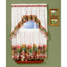 """Country Garden 57"""" Valance and Tier Set"""