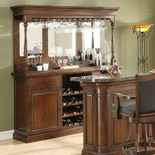 Preston Back Bar with Wine Storage