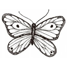 Mounted Rubber Shaded Butterfly Stamp