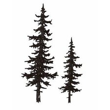 Mounted Rubber Pine Trees Stamp (Set of 3)