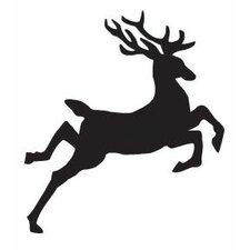 Mounted Rubber Jumping Reindeer Stamp (Set of 3)