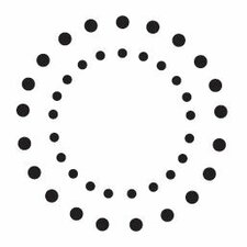 Mounted Rubber Double Dot Circles Stamp (Set of 3)