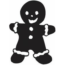 Mounted Rubber Gingerbread Man Stamp (Set of 3)