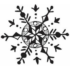Mounted Rubber Snowflake Stamp (Set of 3)