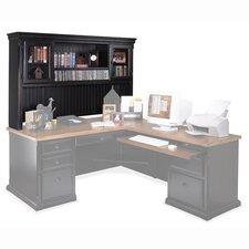 Southampton Onyx Deluxe Hutch Top for L-Shape Desk