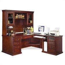 Huntington Club L-Shape Executive Desk with Hutch