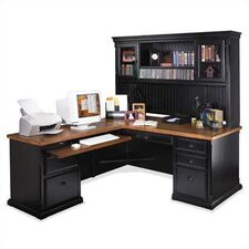 Southampton Onyx L-Shape Executive Desk with Hutch