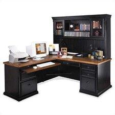 Southampton Onyx L-Shape Executive Desk with Hutch