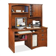 Mission Pasadena Deluxe Computer Desk and Optional Organizer Hutch