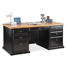 Southampton Onyx Double Pedestal Executive Desk