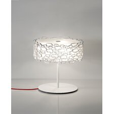 """Glamour 17.8"""" H Table Lamp with Drum Shade"""