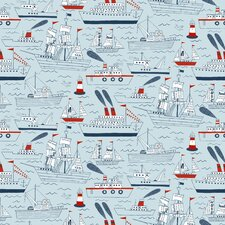 "Ships and Sails15' x 27"" Scenic Wallpaper"