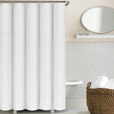 Greek Key Cotton/Polyester Shower Curtain