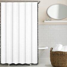100% Cotton Tassel Shower Cutain