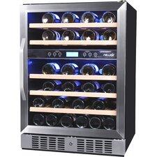 46 Bottle Dual Zone Built-In Wine Refrigerator