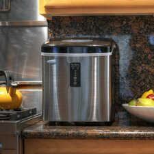 """11"""" 28 lb. Portable Ice Maker in Stainless Steel"""