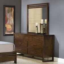 Uptown 7 Drawer Dresser with Mirror