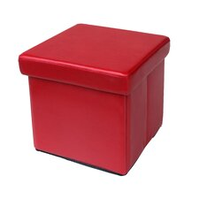 Urban Seating Upholstered Cube Storage Ottoman
