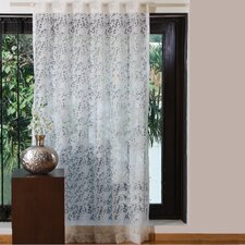 Sweet Flower Burnout Single Curtain Panel