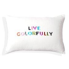 Hue Embroidered Lumbar Pillow