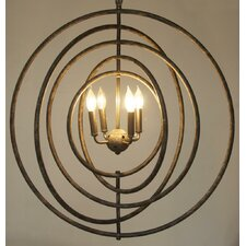 Brooks 4 Light Globe Pendant