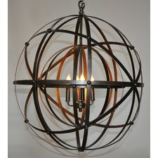 Alchemy 4 Light Candle Chandelier