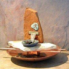 Copper / River Stone Tabletop Fountain